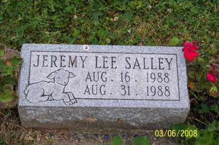 SALLEY, JEREMY LEE - Ross County, Ohio | JEREMY LEE SALLEY - Ohio Gravestone Photos