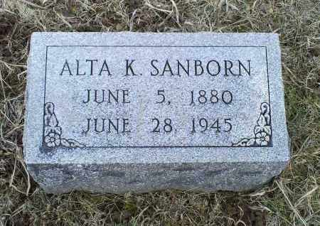 SANBORN, ALTA K. - Ross County, Ohio | ALTA K. SANBORN - Ohio Gravestone Photos