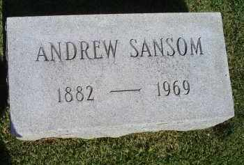 SANSOM, ANDREW - Ross County, Ohio | ANDREW SANSOM - Ohio Gravestone Photos