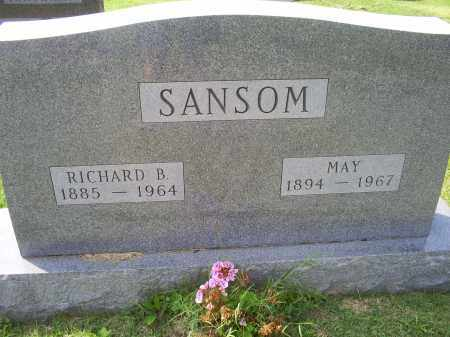 SANSOM, RICHARD B. - Ross County, Ohio | RICHARD B. SANSOM - Ohio Gravestone Photos