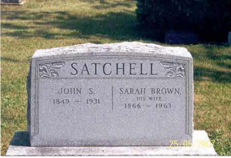 SATCHELL, JOHN S. - Ross County, Ohio | JOHN S. SATCHELL - Ohio Gravestone Photos