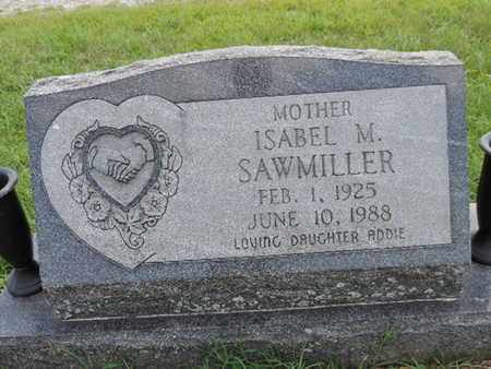 SAWMILLER, ISABEL M - Ross County, Ohio | ISABEL M SAWMILLER - Ohio Gravestone Photos