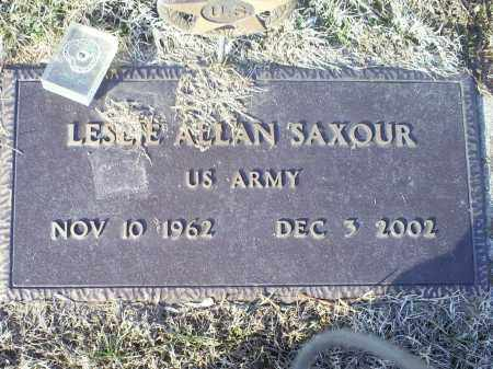 SAXOUR, LESLIE ALLAN - Ross County, Ohio | LESLIE ALLAN SAXOUR - Ohio Gravestone Photos