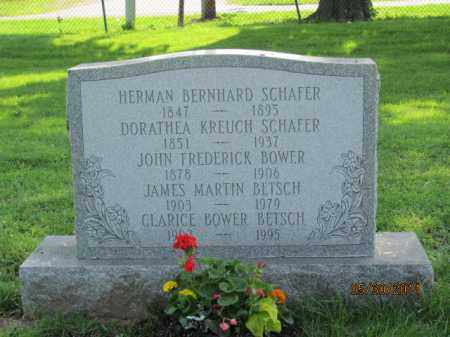 SCHAFER, HERMAN BERNHARD - Ross County, Ohio | HERMAN BERNHARD SCHAFER - Ohio Gravestone Photos