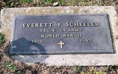 SCHEELER, EVERETT F. - Ross County, Ohio   EVERETT F. SCHEELER - Ohio Gravestone Photos