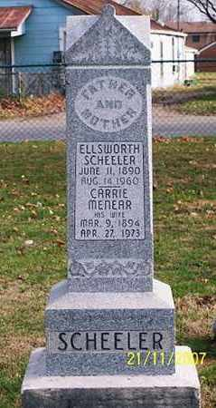 MENEAR SCHEELER, CARRIE - Ross County, Ohio | CARRIE MENEAR SCHEELER - Ohio Gravestone Photos