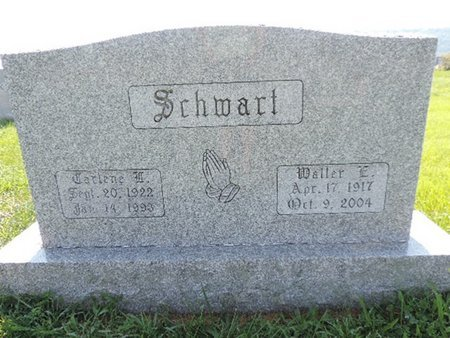 SCHWART, WALLER E - Ross County, Ohio | WALLER E SCHWART - Ohio Gravestone Photos