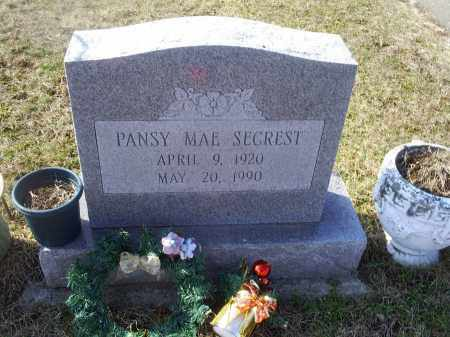 SECREST, PANSY MAE - Ross County, Ohio | PANSY MAE SECREST - Ohio Gravestone Photos