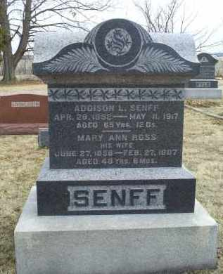ROSS SENFF, MARY ANN - Ross County, Ohio | MARY ANN ROSS SENFF - Ohio Gravestone Photos