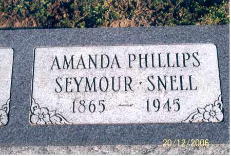 PHILLIPS SEYMOUR SNELL, AMANDA - Ross County, Ohio | AMANDA PHILLIPS SEYMOUR SNELL - Ohio Gravestone Photos