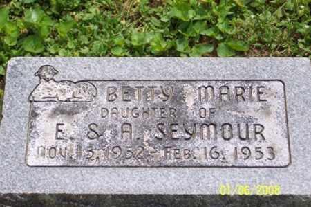 SEYMOUR, BETTY MARIE - Ross County, Ohio | BETTY MARIE SEYMOUR - Ohio Gravestone Photos