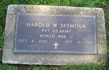 SEYMOUR, HAROLD W. - Ross County, Ohio | HAROLD W. SEYMOUR - Ohio Gravestone Photos