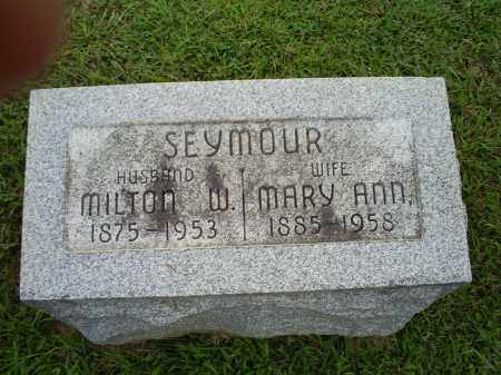 SEYMOUR, MARY ANN - Ross County, Ohio | MARY ANN SEYMOUR - Ohio Gravestone Photos