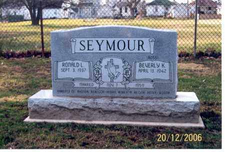 SEYMOUR, BEVERLY K. - Ross County, Ohio | BEVERLY K. SEYMOUR - Ohio Gravestone Photos