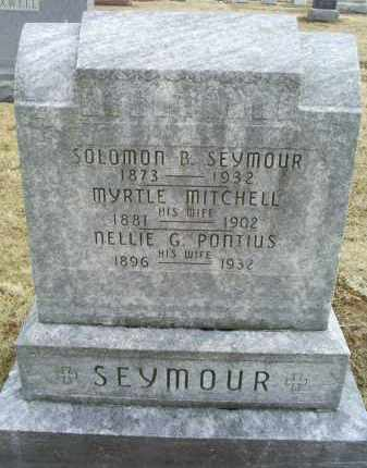 PONTIUS SEYMOUR, NELLIE G. - Ross County, Ohio | NELLIE G. PONTIUS SEYMOUR - Ohio Gravestone Photos