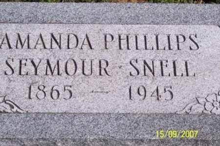 PHILLIPS SEYMOUR, AMANDA - Ross County, Ohio | AMANDA PHILLIPS SEYMOUR - Ohio Gravestone Photos