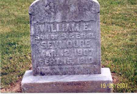 SEYMOUR, WILLIAM E. - Ross County, Ohio | WILLIAM E. SEYMOUR - Ohio Gravestone Photos