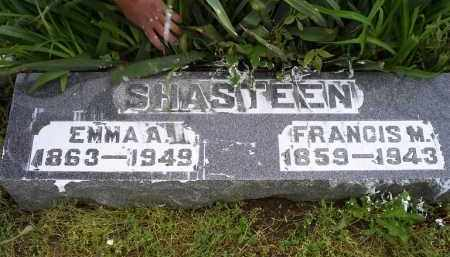 SHASTEEN, EMMA A. - Ross County, Ohio | EMMA A. SHASTEEN - Ohio Gravestone Photos