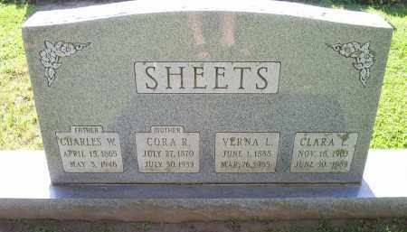 SHEETS, CHARLES W. - Ross County, Ohio | CHARLES W. SHEETS - Ohio Gravestone Photos