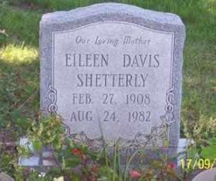 DAVIS SHETTERLY, EILEEN - Ross County, Ohio | EILEEN DAVIS SHETTERLY - Ohio Gravestone Photos