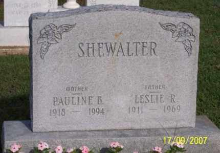 SHEWALTER, LESLIE R. - Ross County, Ohio | LESLIE R. SHEWALTER - Ohio Gravestone Photos