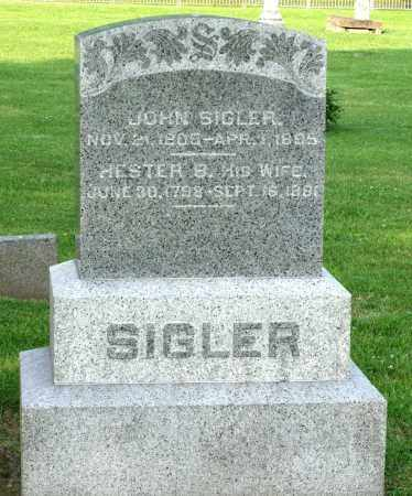SIGLER, HESTER B. - Ross County, Ohio | HESTER B. SIGLER - Ohio Gravestone Photos