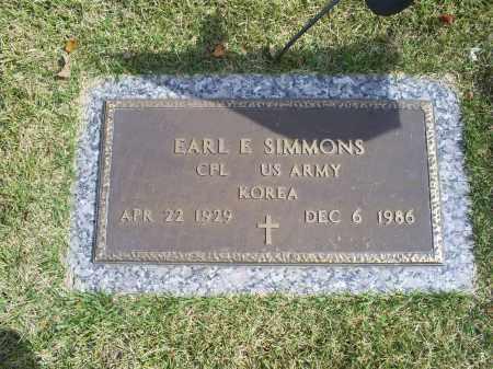 SIMMONS, EARL E. - Ross County, Ohio   EARL E. SIMMONS - Ohio Gravestone Photos