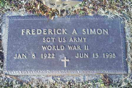 SIMON, FREDERICK A. - Ross County, Ohio | FREDERICK A. SIMON - Ohio Gravestone Photos