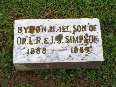 SIMPSON, BYRON H. 1ST - Ross County, Ohio | BYRON H. 1ST SIMPSON - Ohio Gravestone Photos