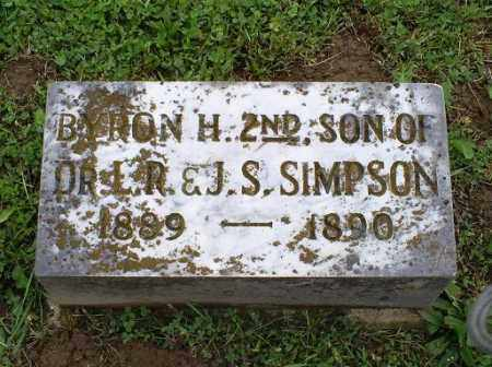 SIMPSON, BYRON H. 2ND - Ross County, Ohio | BYRON H. 2ND SIMPSON - Ohio Gravestone Photos