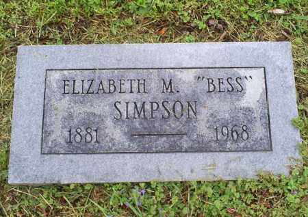 "SIMPSON, ELIZABETH M. ""BESS"" - Ross County, Ohio 