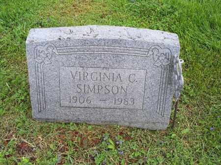 SIMPSON, VIRGINIA G. - Ross County, Ohio | VIRGINIA G. SIMPSON - Ohio Gravestone Photos
