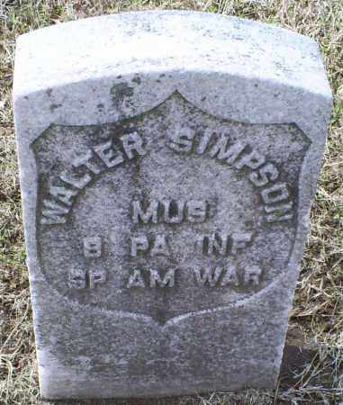 SIMPSON, WALTER - Ross County, Ohio | WALTER SIMPSON - Ohio Gravestone Photos