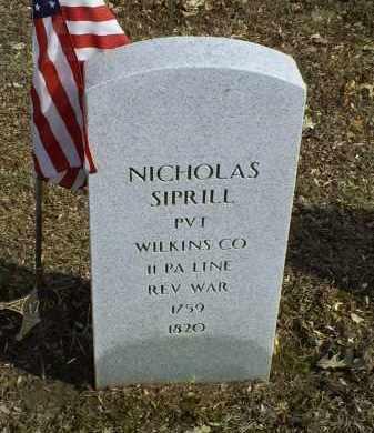 SIPRILL, NICHOLAS - Ross County, Ohio | NICHOLAS SIPRILL - Ohio Gravestone Photos