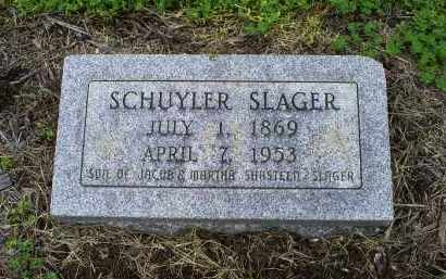 SLAGER, SCHUYLER - Ross County, Ohio | SCHUYLER SLAGER - Ohio Gravestone Photos