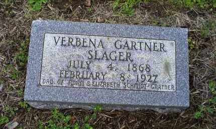 GARTNER SLAGER, VERBENA - Ross County, Ohio | VERBENA GARTNER SLAGER - Ohio Gravestone Photos