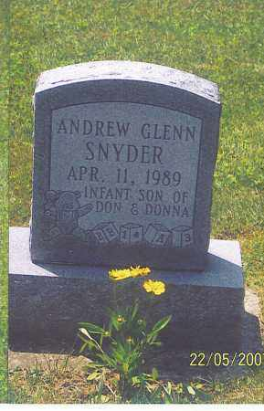 SNYDER, ANDREW GLENN - Ross County, Ohio | ANDREW GLENN SNYDER - Ohio Gravestone Photos