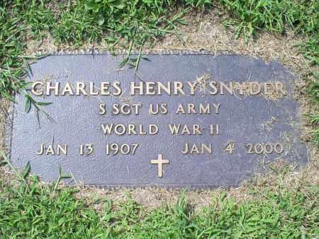SNYDER, CHARLES HENRY - Ross County, Ohio | CHARLES HENRY SNYDER - Ohio Gravestone Photos