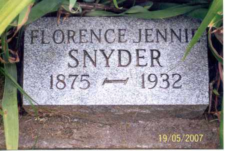 SNYDER, FLORENCE JENNIE - Ross County, Ohio | FLORENCE JENNIE SNYDER - Ohio Gravestone Photos