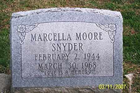 MOORE SNYDER, MARCELLA - Ross County, Ohio | MARCELLA MOORE SNYDER - Ohio Gravestone Photos