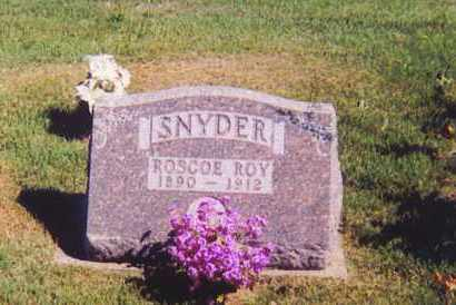 SNYDER, ROSCOE ROY - Ross County, Ohio | ROSCOE ROY SNYDER - Ohio Gravestone Photos