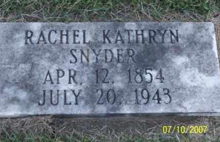 SNYDER, RACHEL KATHRYN - Ross County, Ohio | RACHEL KATHRYN SNYDER - Ohio Gravestone Photos