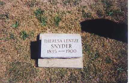 LENTZ SNYDER, THERESA - Ross County, Ohio | THERESA LENTZ SNYDER - Ohio Gravestone Photos