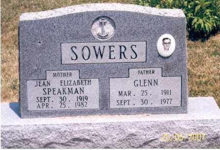 SOWERS, JEAN ELIZABETH - Ross County, Ohio | JEAN ELIZABETH SOWERS - Ohio Gravestone Photos