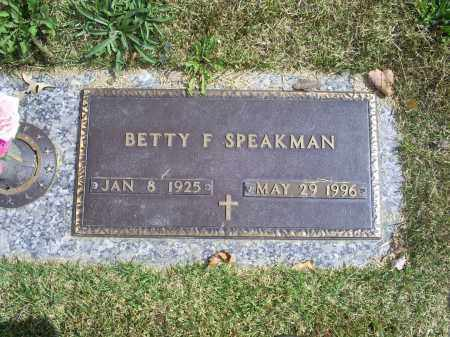 SPEAKMAN, BETTY F. - Ross County, Ohio | BETTY F. SPEAKMAN - Ohio Gravestone Photos
