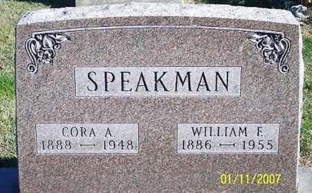 SPEAKMAN, CORA A. - Ross County, Ohio | CORA A. SPEAKMAN - Ohio Gravestone Photos