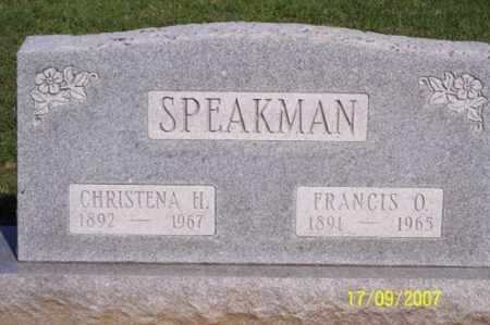 SPEAKMAN, CHRISTENA H. - Ross County, Ohio | CHRISTENA H. SPEAKMAN - Ohio Gravestone Photos