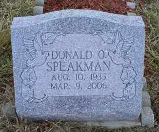 SPEAKMAN, DONALD O. - Ross County, Ohio | DONALD O. SPEAKMAN - Ohio Gravestone Photos