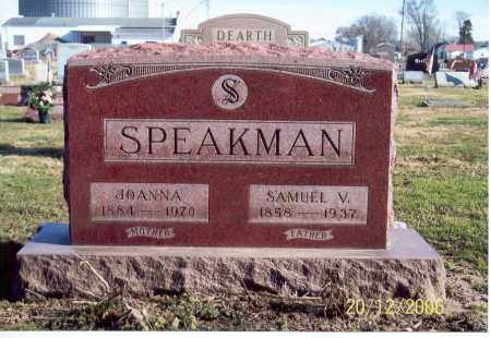 MCQUAIDE SPEAKMAN, JOANNA - Ross County, Ohio | JOANNA MCQUAIDE SPEAKMAN - Ohio Gravestone Photos