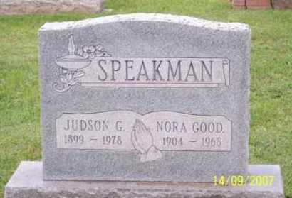 GOOD SPEAKMAN, NORA - Ross County, Ohio | NORA GOOD SPEAKMAN - Ohio Gravestone Photos